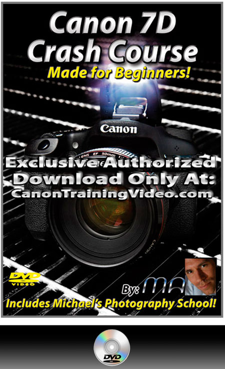 Canon 7D Crash Course Training Video DVD + Download