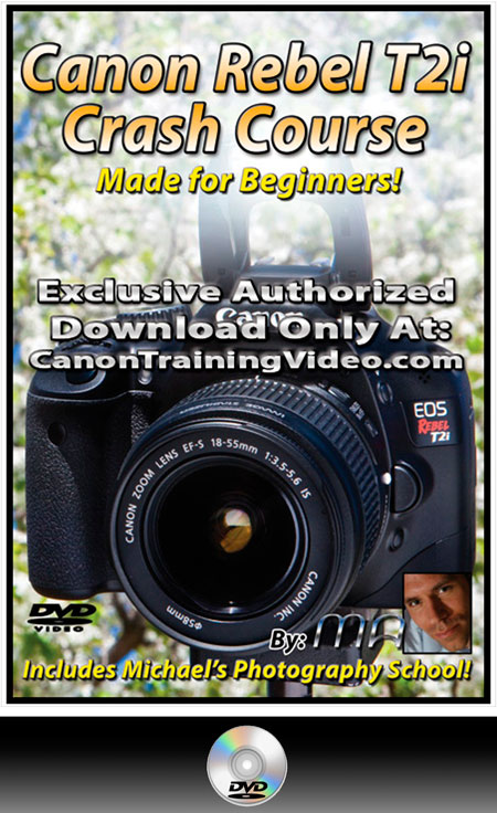 Canon Rebel T2i Crash Course Training Guide DVD + Download