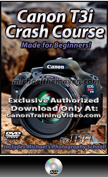 Canon Rebel T3i Crash Course Training Guide DVD + Download