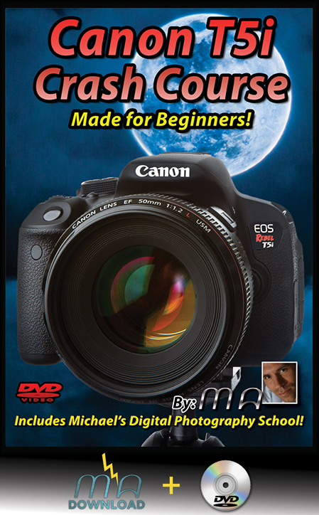 Canon Rebel T5i Crash Course DVD + Download