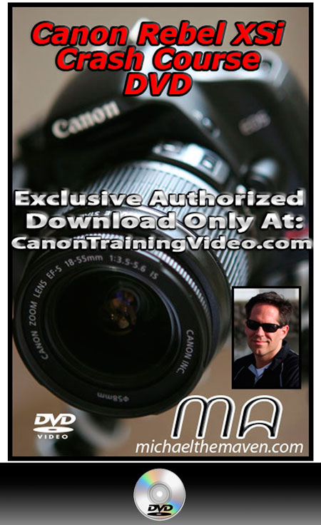 Canon Rebel XSi Crash Course DVD + Download
